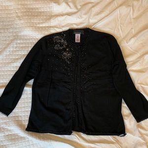 Jones New York black cardigan